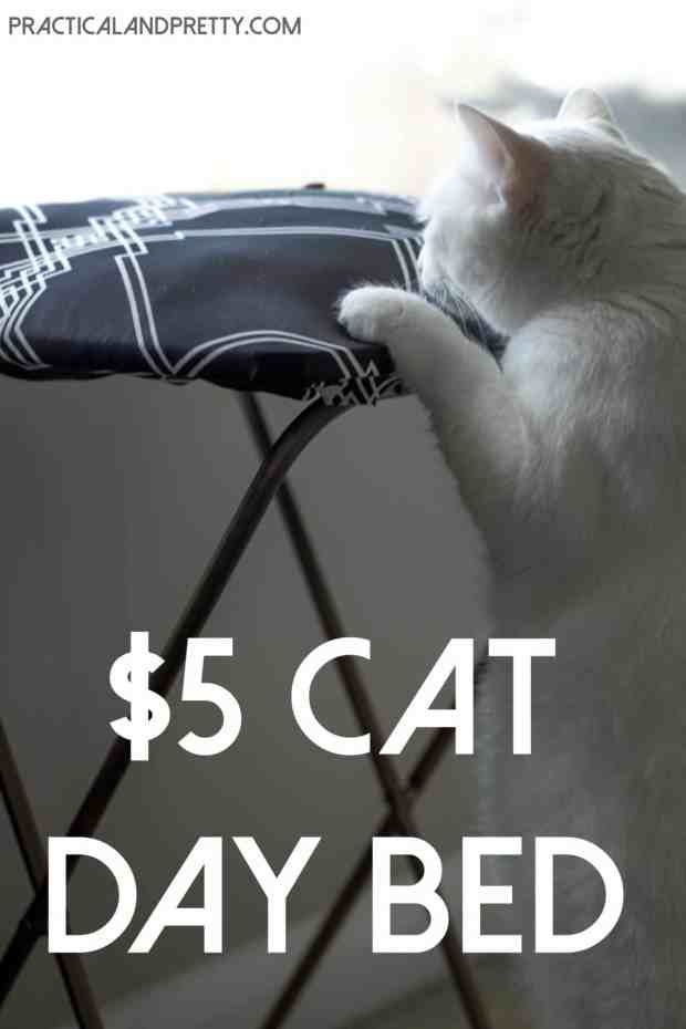 This is such an easy DIY for your fur baby! Only $5 for this cat window seat!