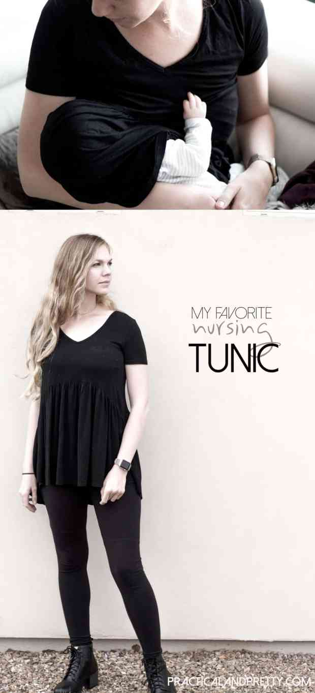 My favorite nursing shirt of all time! I love this little tunic