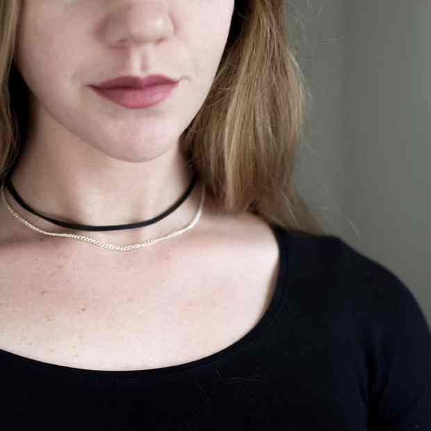 This is such a simple DIY choker and you'll have materials to make gifts for each of your girlfriends too!
