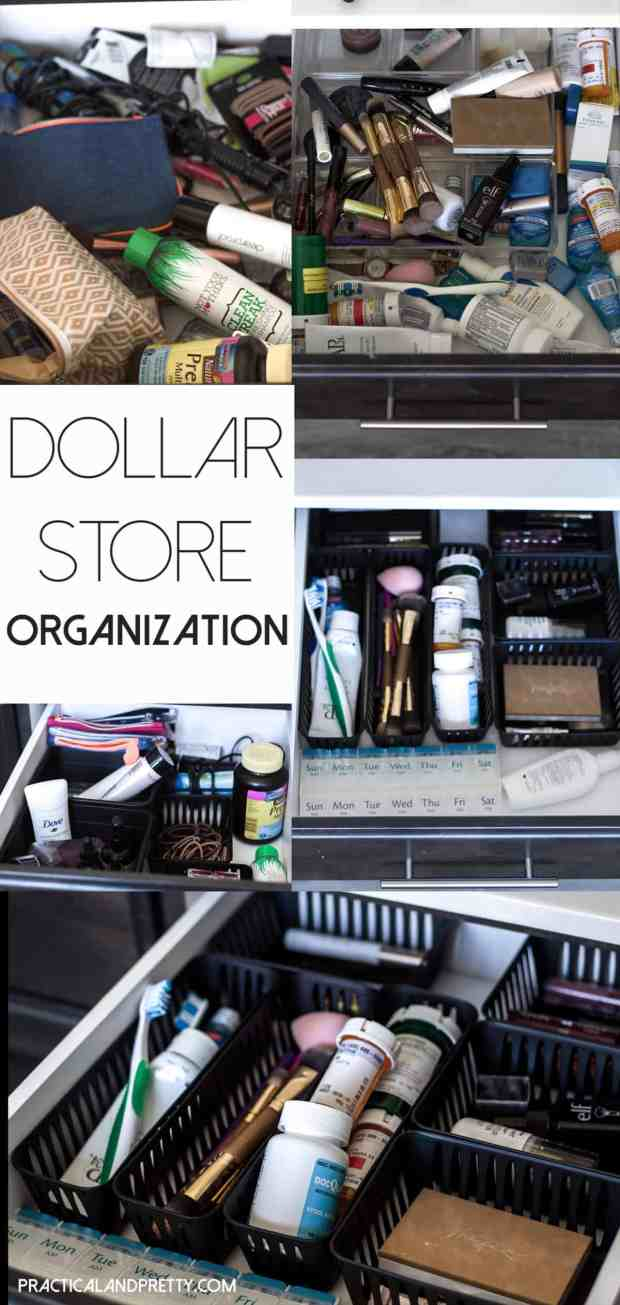 You can organize your whole bathroom for $3 at the dollar store! You can't use expense as an excuse anymore!