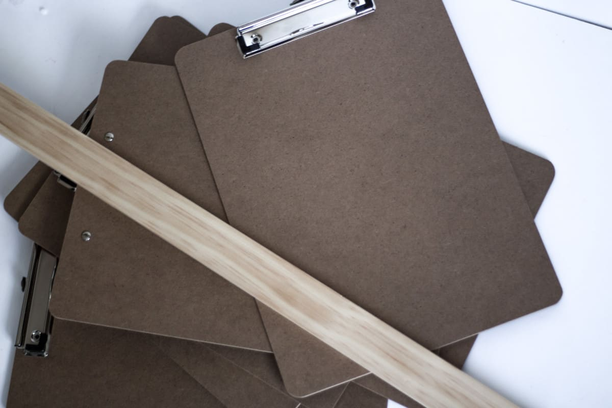 Make these clipboard placeholders for your next office themed party!