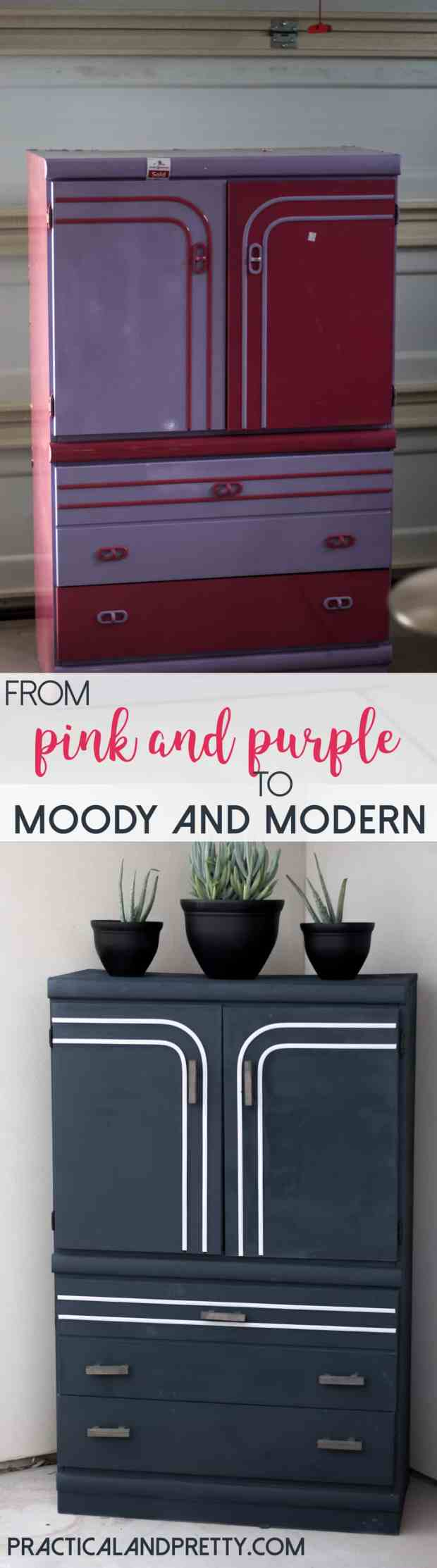 See how I made over this find from Deseret Industries to make it more modern and moody! I love the DI so much because I love these transformations