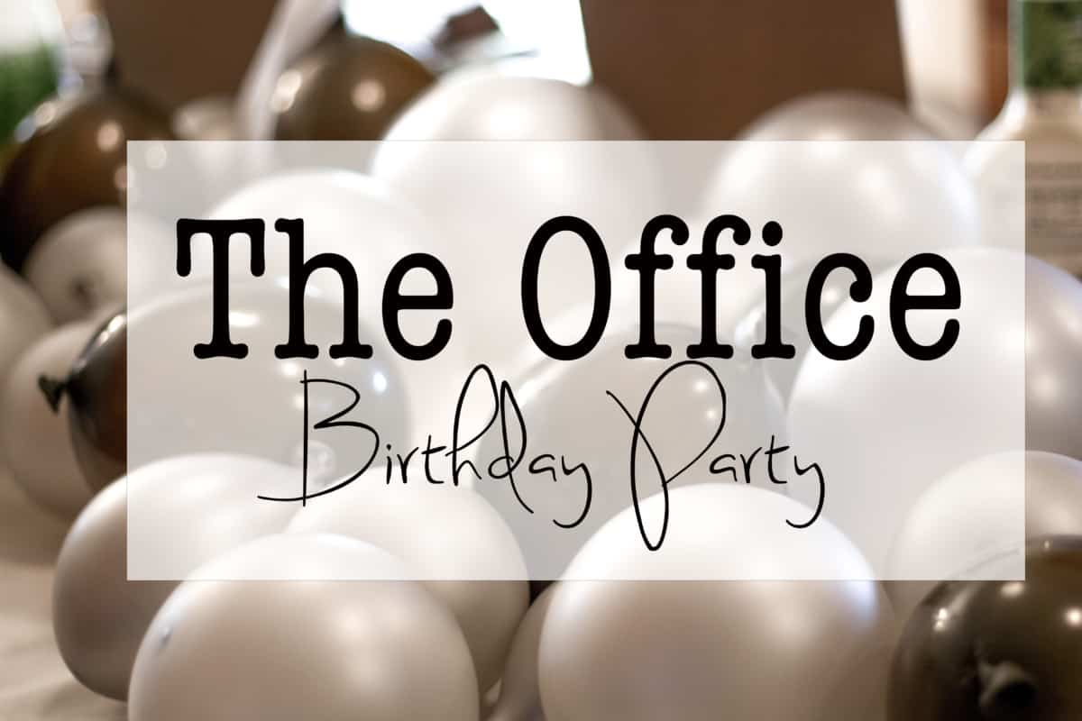The Office Themed Birthday Party Practical and Pretty