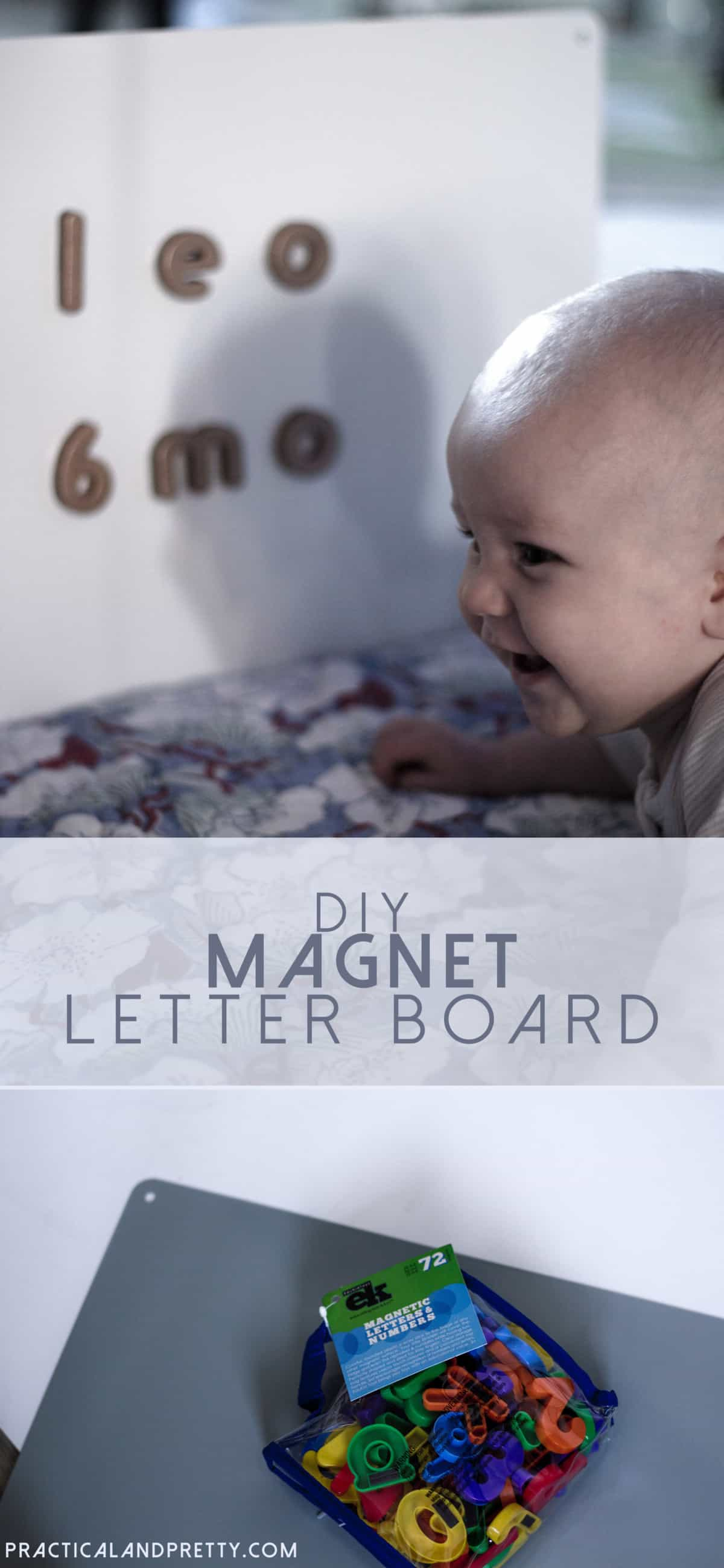 You don't have to spend a lot of money for a magnetic letter board! This DIY is so simple and you can use it for pretty much anything.