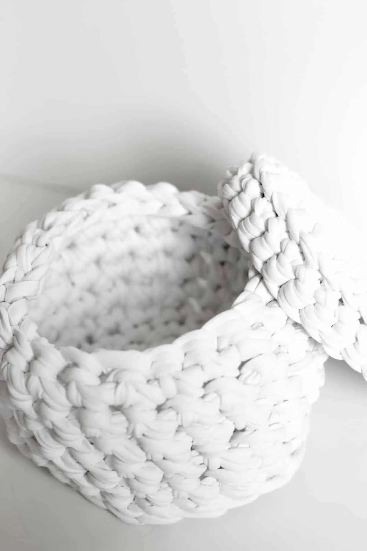 Tangram Crocheted Basket