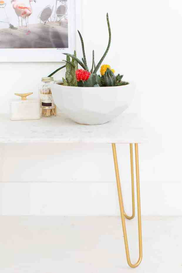 You won't want to miss all of these amazing marble topped side tables that are a fraction of the cost of the real thing!