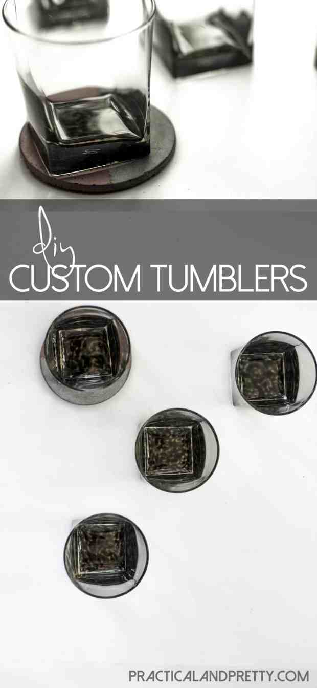 This is a very easy and simple way to customize and glassware! We made these for our Steeler's fan neighbors and they turned out really cool.