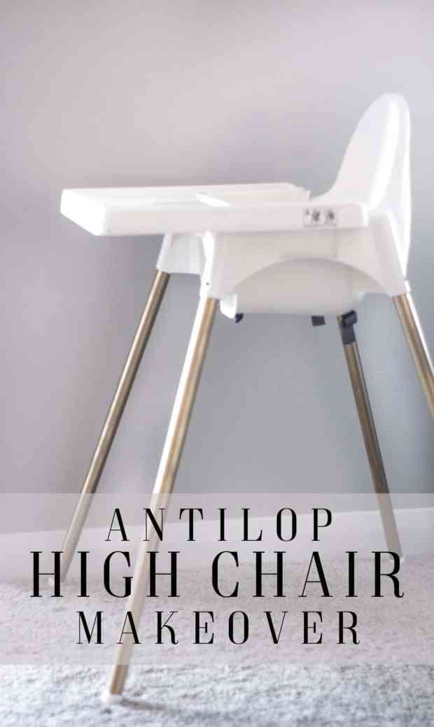 The ANTILOP high chair from IKEA is so easy to customize and make your own. I loved making mine gold!