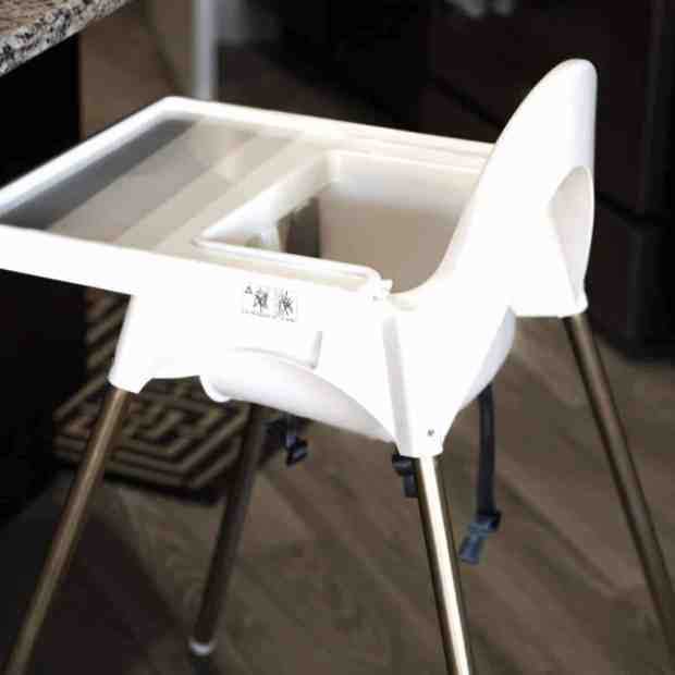 ikea high chair makeover practical and pretty. Black Bedroom Furniture Sets. Home Design Ideas