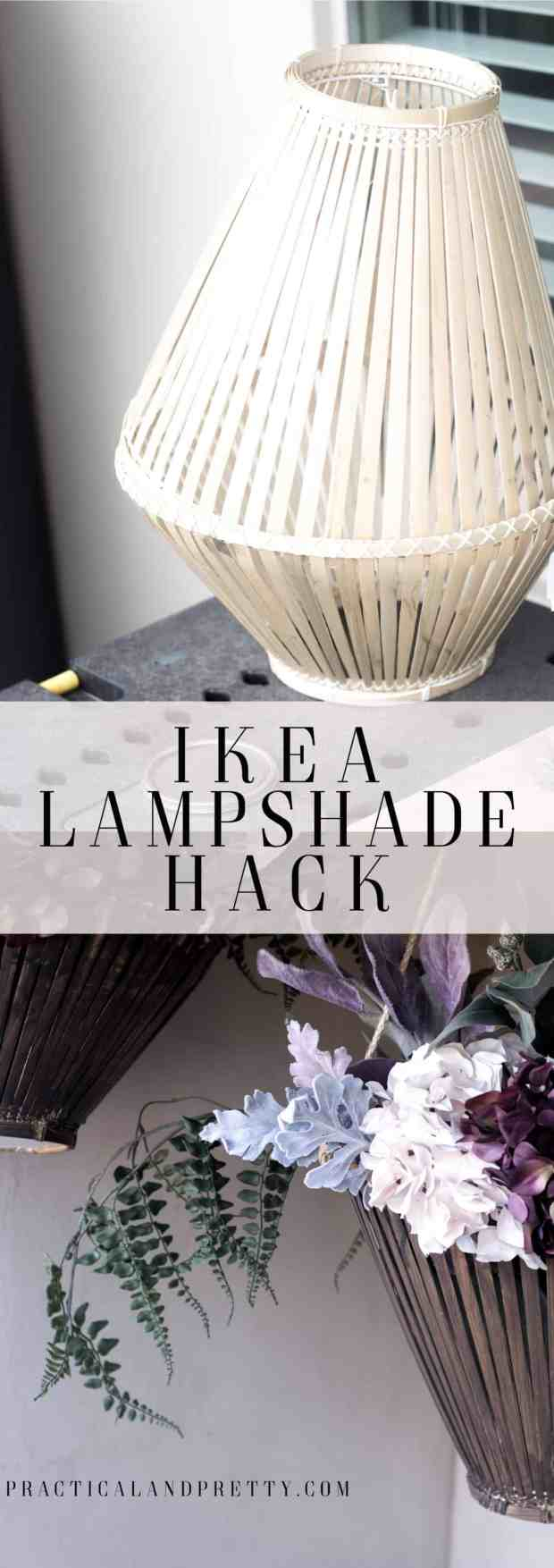 You can hack these IKEA lampshades into planters and the look is so cool!