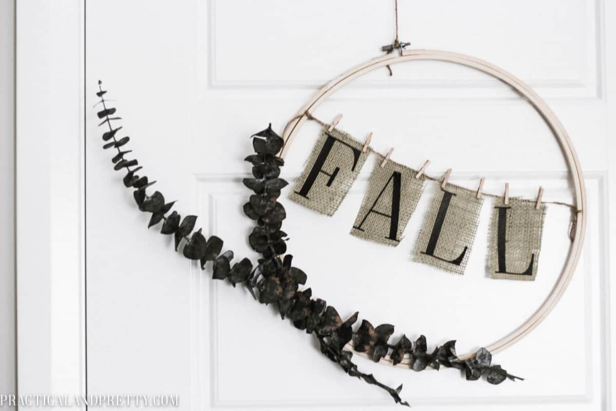 This DIY fall burlap banner is so simple but cute. You can make it as small or large as you'd like so it works in any space!