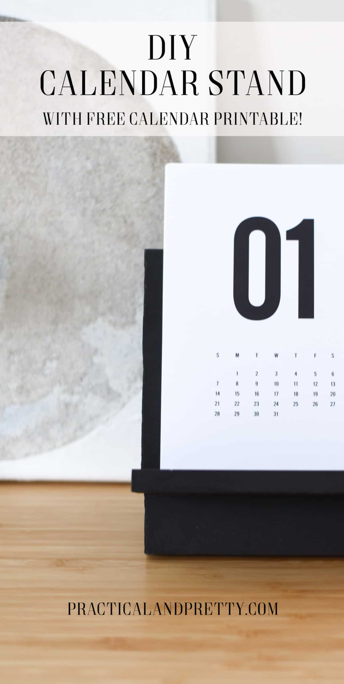 Diy Calendar Nim C : Diy calendar stand with free printable by