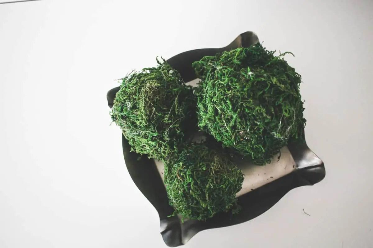 DIY Dollar Store Moss Balls   Inspire My Creativity Link Party
