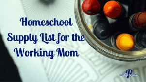 A supply list for the working mom