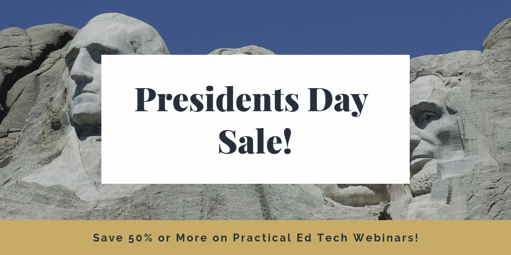 Presidents Day Sale! My On-demand Webinars are 50% Off