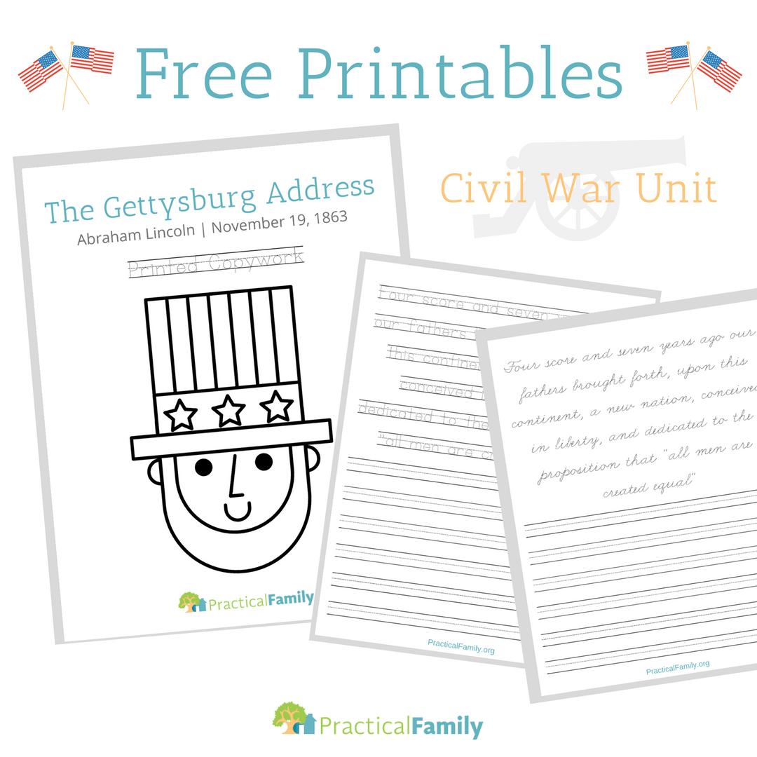 Download Cycle 3 Gettysburg Address Copywork