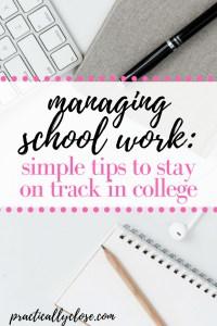 managing school work