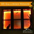 Halloween window decor decorate a window with black vinyl and orange