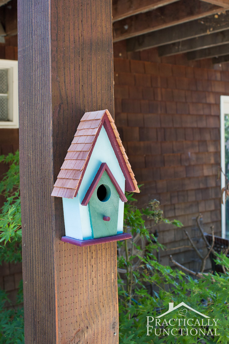 Simple Backyard Decorating Ideas Paint A Birdhouse!