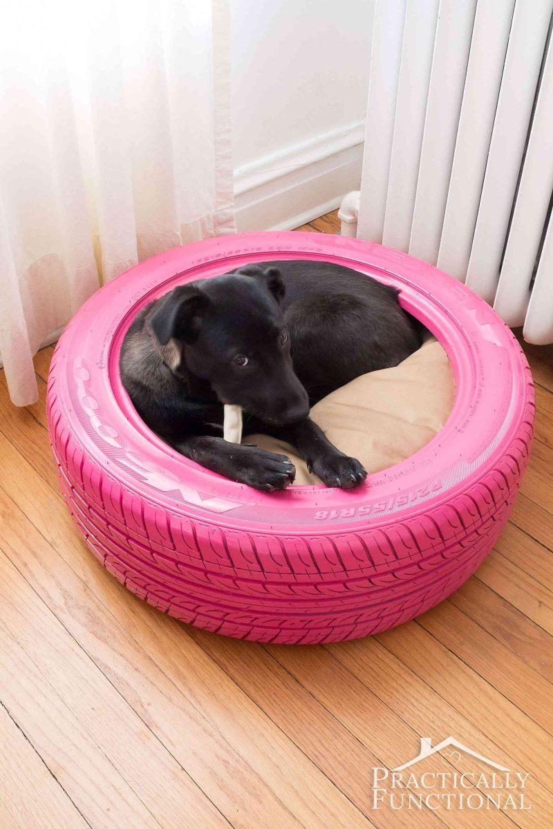 Used fire hose dog bed!!!! | Outdoor dog bed, Diy dog bed