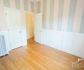 wainscoting with wallpaper