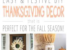 19 Simple DIY Thanksgiving Decorations