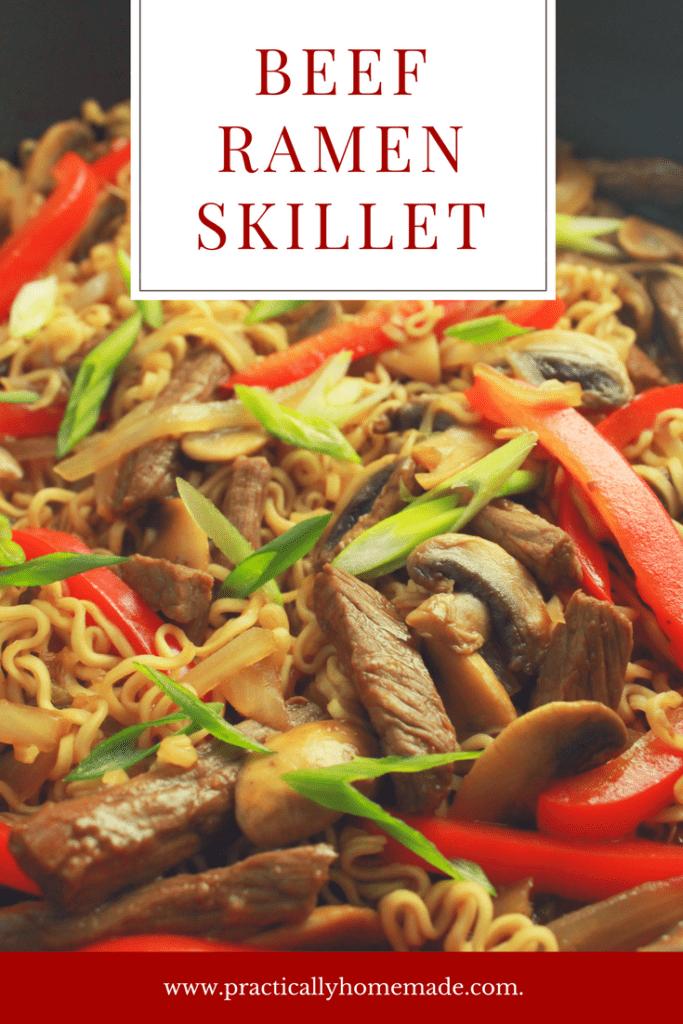 beef ramen skillet | beef ramen noodle recipes | beef ramen | beef ramen recipes | beef skillet | beef skillet recipes | beef skillet meals