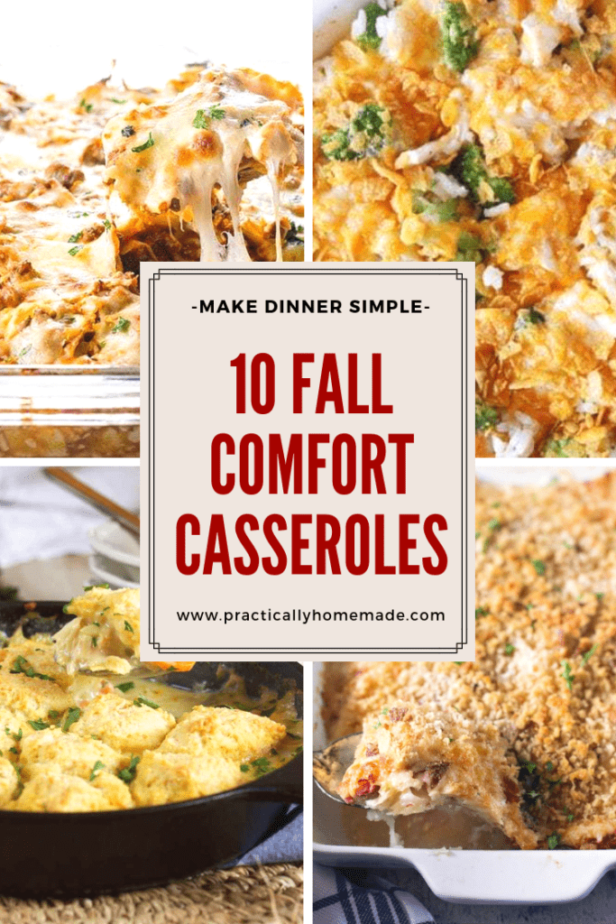 fall comfort casseroles | fall comfort food recipes | casserole recipes | casseroles | dinner ideas
