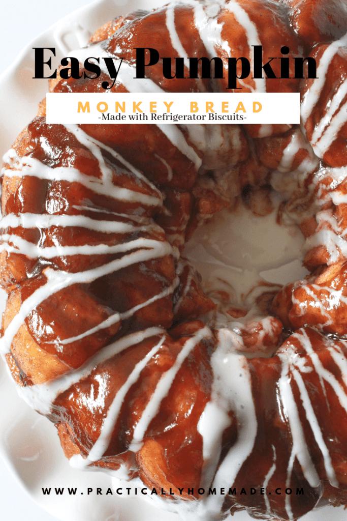 pumpkin monkey bread easy | pumpkin monkey bread | monkey bread | biscuit monkey bread | quick monkey bread | pumpkin recipe | easy pumpkin recipe