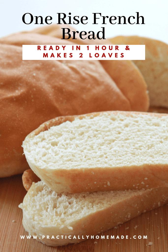 one rise french bread | french bread recipe | quick french bread | one rise bread recipe | homemade bread | yeast bread recipe