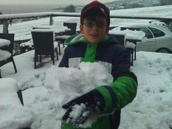 snow at windmill