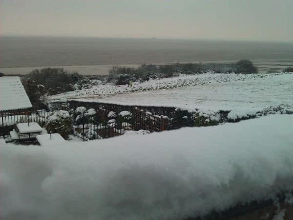 The Windmill Inn on a snow Day