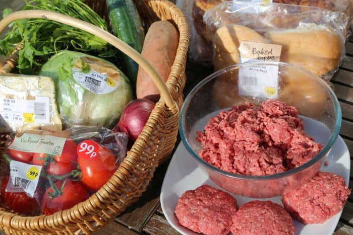 fresh produce in basket