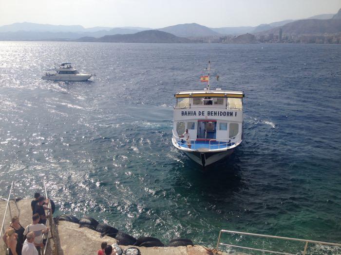 Boat trip to Benidorm Island