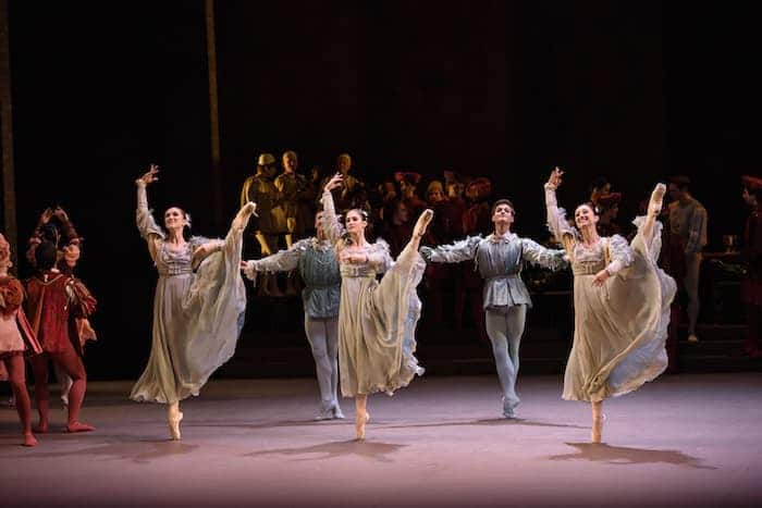 Romeo and Juliet Ballet Review, ROMEO and JULIET, English National Ballet_ Bristol Hippodrome;Juliet; Alina Cojocaru,Romeo; Isaac Hernández,Mercutio; Cesar Corrales,Benvolio; James Forbat,Tybalt; James Streeter,Rosaline; Alison McWhinney,Paris; Max Westwell,