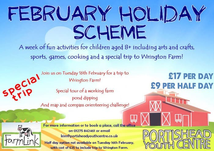 February half term play scheme at Portishead Youth Centre 2016