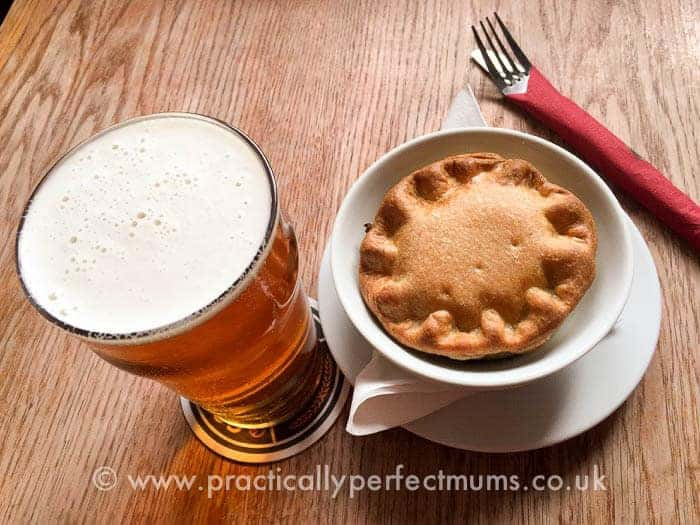 Pie and Gower Brewery Pint at King's Head, Gower Peninsula, Llangenith, Wales
