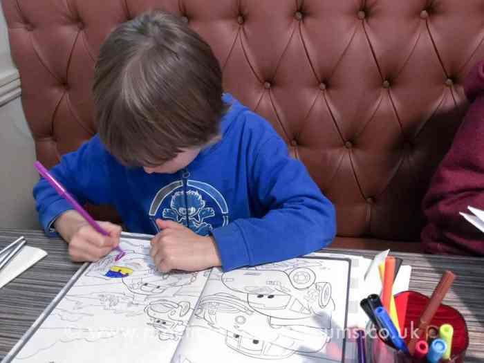 Kids activity packs at Ordulph and Terrace Restaurant, Tavistock