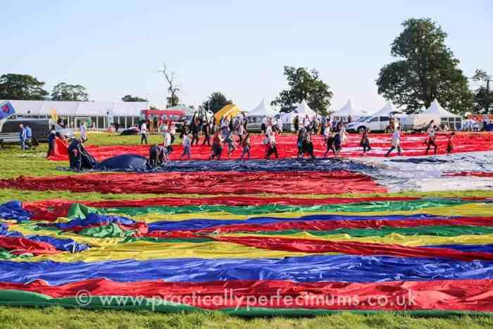 Launch preparations at Bristol Balloon Fiesta 2016