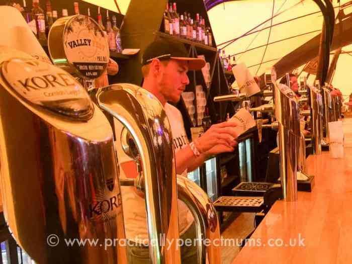 Good Local Beers in the Tipi Tent - Valley Fest Review 2016