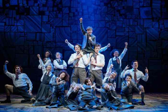 Children in Matilda the Musical Review at Bristol Hippodrome