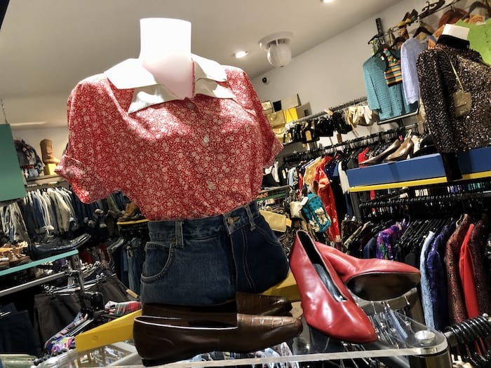 Vintage clothes and accessories at Beyond Retro, Bristol