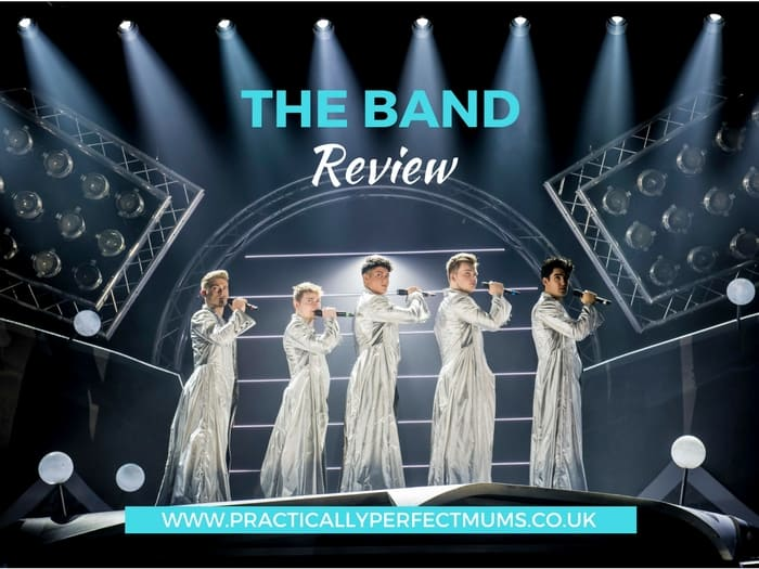 """The Band is a new musical featuring Five to Five, the winners of the BBCs """"Let it Shine"""" series. It tells the story of teenage fans growing up with the music of a boyband providing the backing track. Read about this new show plus age suitability guide in The Band Musical review."""