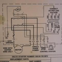 Single Phase Start Stop Switch Wiring Diagram Microsoft Lync Delta Table Saw Motor Get Free Image