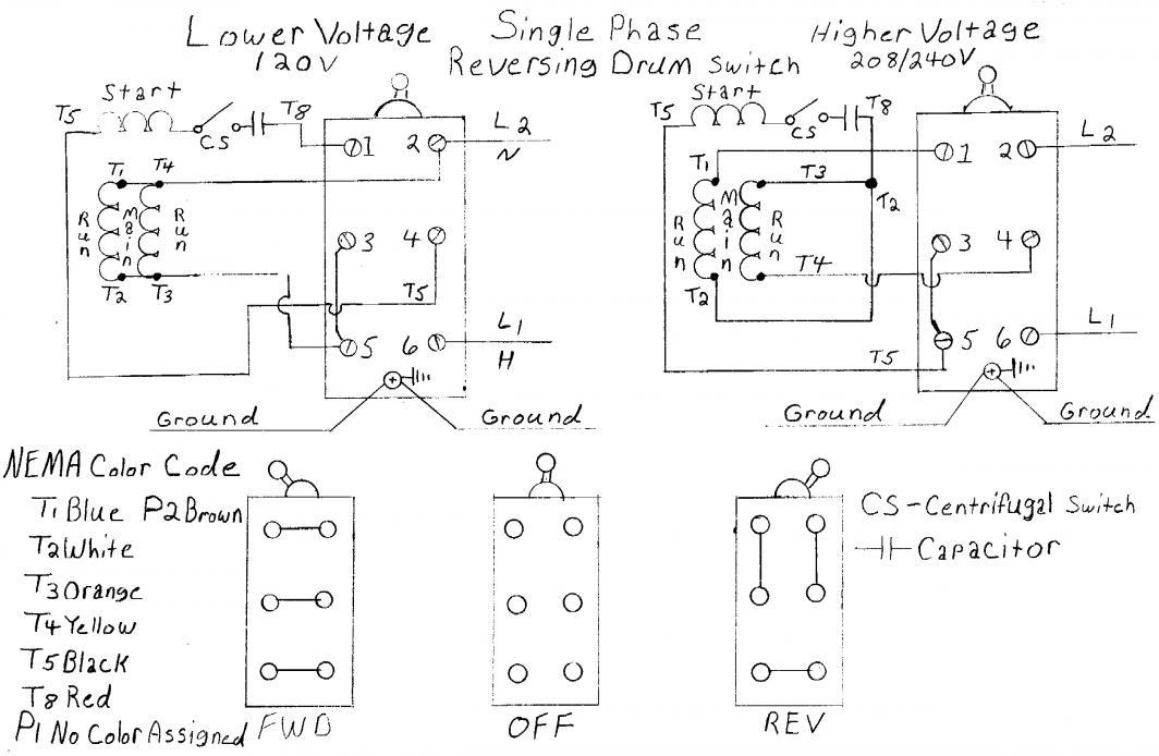 Single Phase 120 240 Motor Wiring Diagram