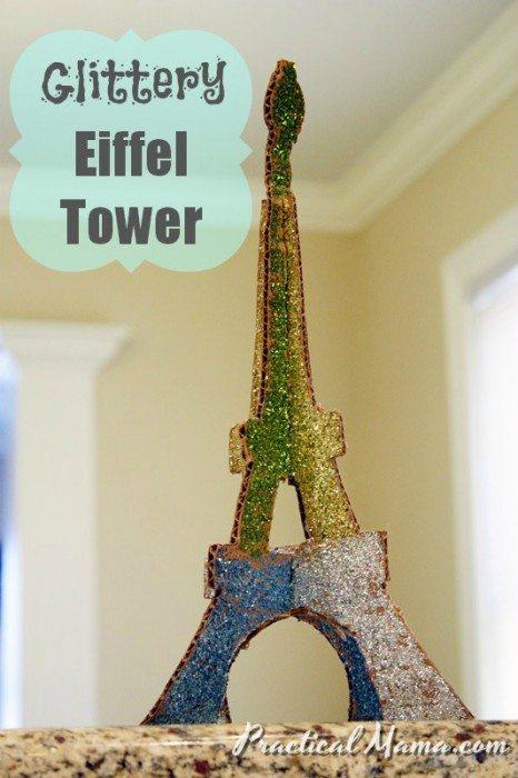 Arts  Crafts Glittery Eiffel Tower  Practical Mama