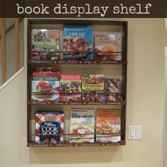 Used Kitchen Cabinets Chicago Portable For Small Apartments Diy: Wall-mounted Book Display Shelf My Cookbooks