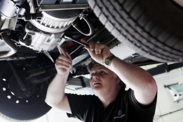 Most non-dealer mechanics can perform a logbook service of your new car without voiding the warranty