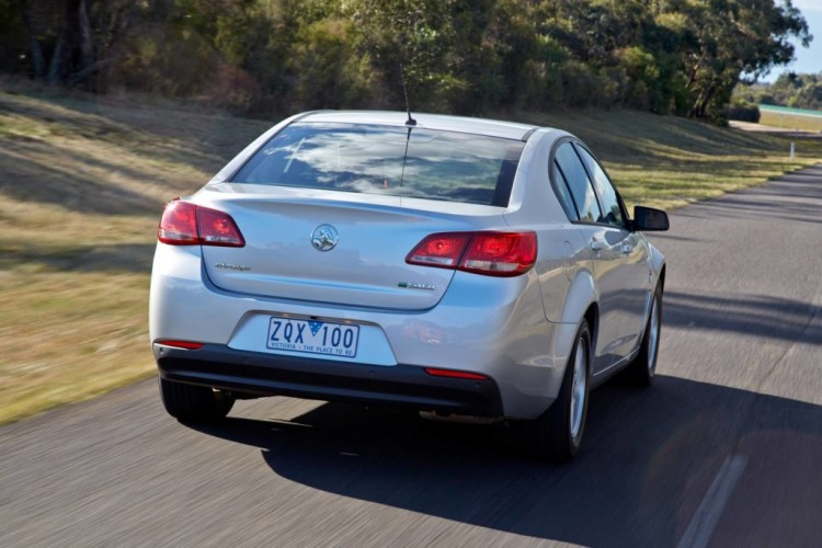 Holden VF Commodore rear driving