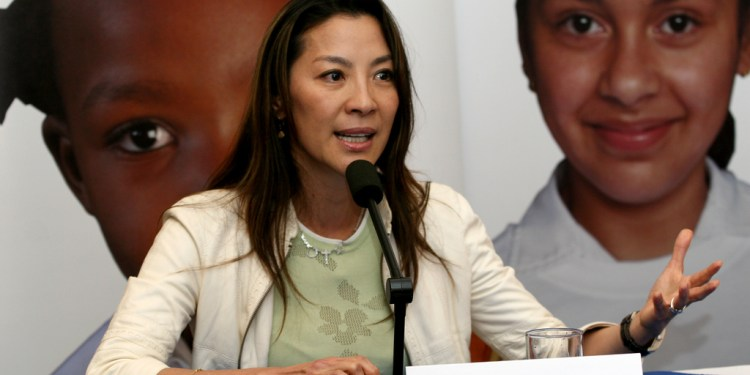 Actress Michelle Yeoh is the Global Ambassador for the Make Roads Safer campaign